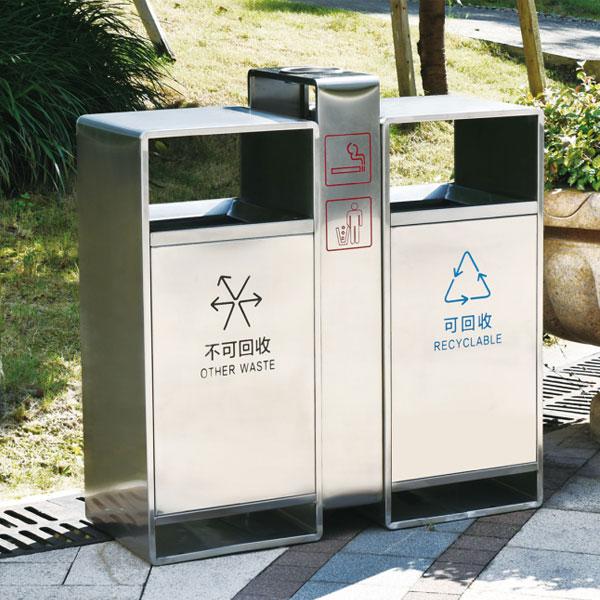 不锈钢201垃圾箱LC-DZ002
