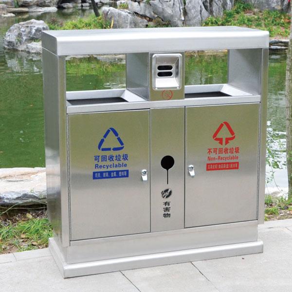 户外不锈钢垃圾箱LC-BXG401B