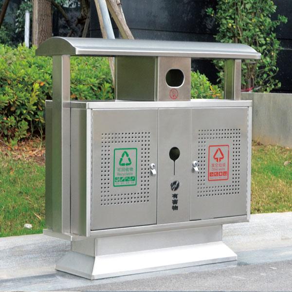 不锈钢户外垃圾桶LC-BXG202