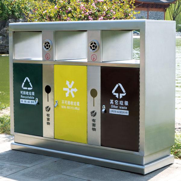 户外不锈钢回收垃圾桶LC-BXG201