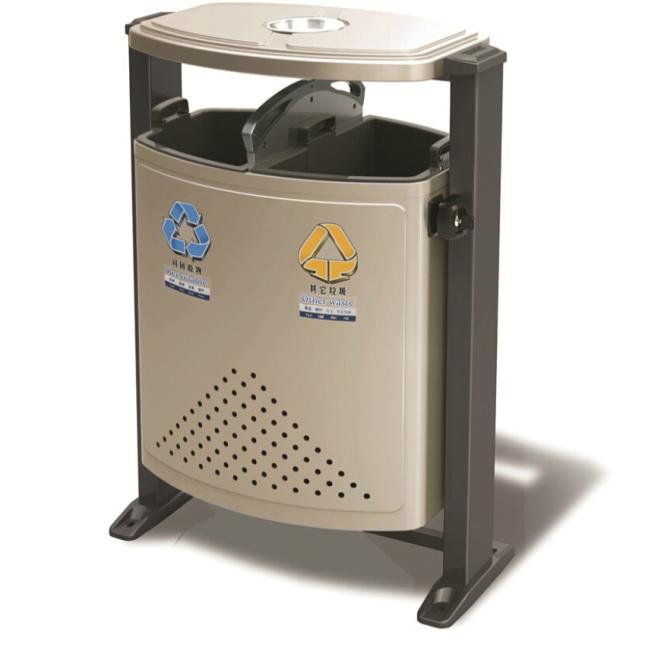 户外不锈钢垃圾桶LC-BXG301C