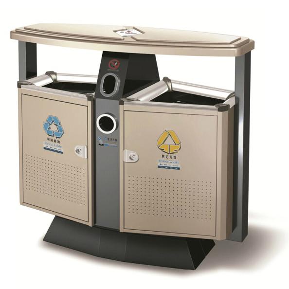 户外不锈钢垃圾桶LC-BXG301A