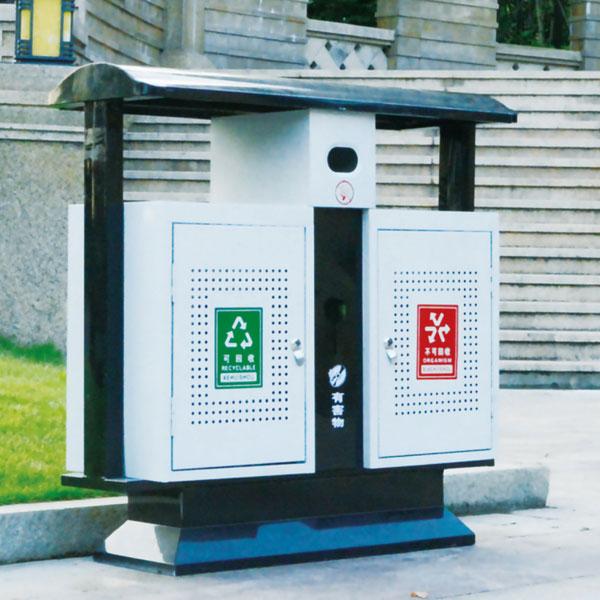 绿灿镀锌冲孔垃圾箱(常用)LC-DXS001