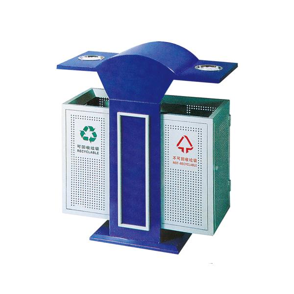 公园镀锌垃圾箱LC-401A