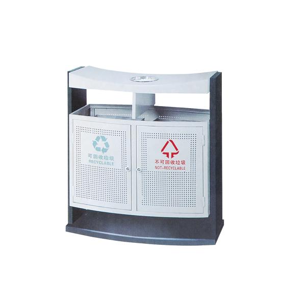 户外冲孔镀锌垃圾桶LC-DX201A