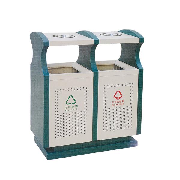 冲孔镀锌垃圾箱LC-DX301C