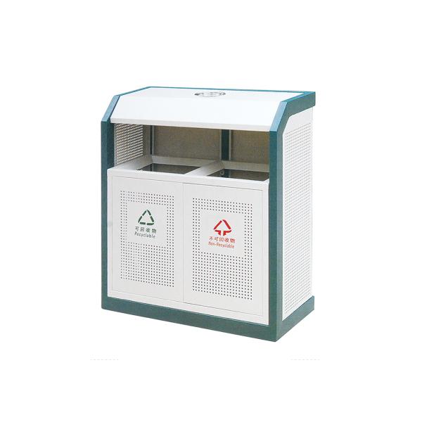 户外镀锌板垃圾桶LC-DX101A