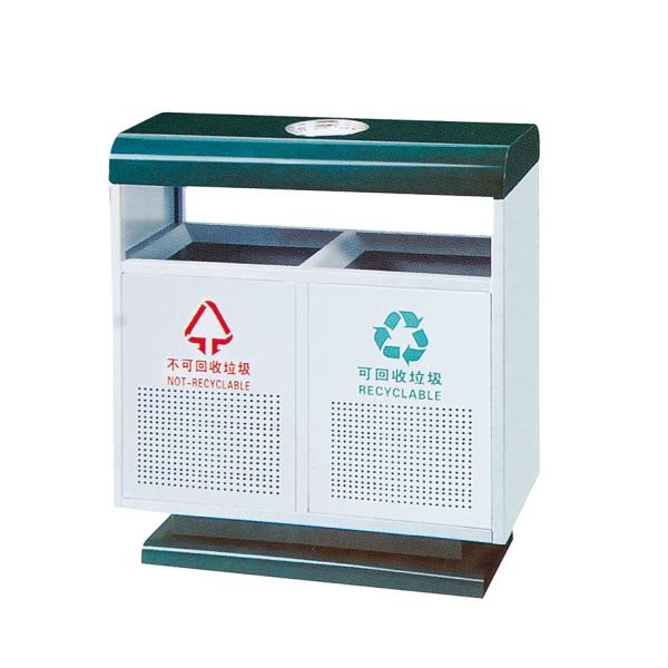 社区镀锌垃圾桶LC-DX401B
