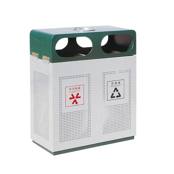 镀锌冲孔垃圾箱LC-DX301B