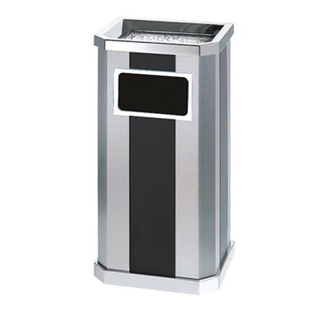 室内方筒垃圾筒(灰白)LC-DT102C