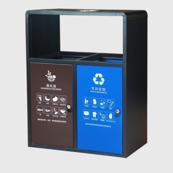 不锈钢二分类垃圾桶广场街道常用
